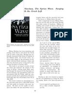 Review Helena Sheehan, The Syriza Wave