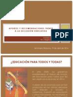 Daniela Eroles Aportes y Recomendaciones Frente a La Exclusion Educativa. 19 de Abril