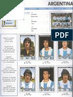 Album Panini 1978 Argentina Mundial