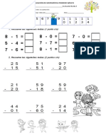 Evaluación de Matemática Primero Básico