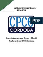 Reglamento CPCE Córdoba