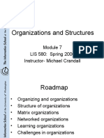 Organizations and Structures
