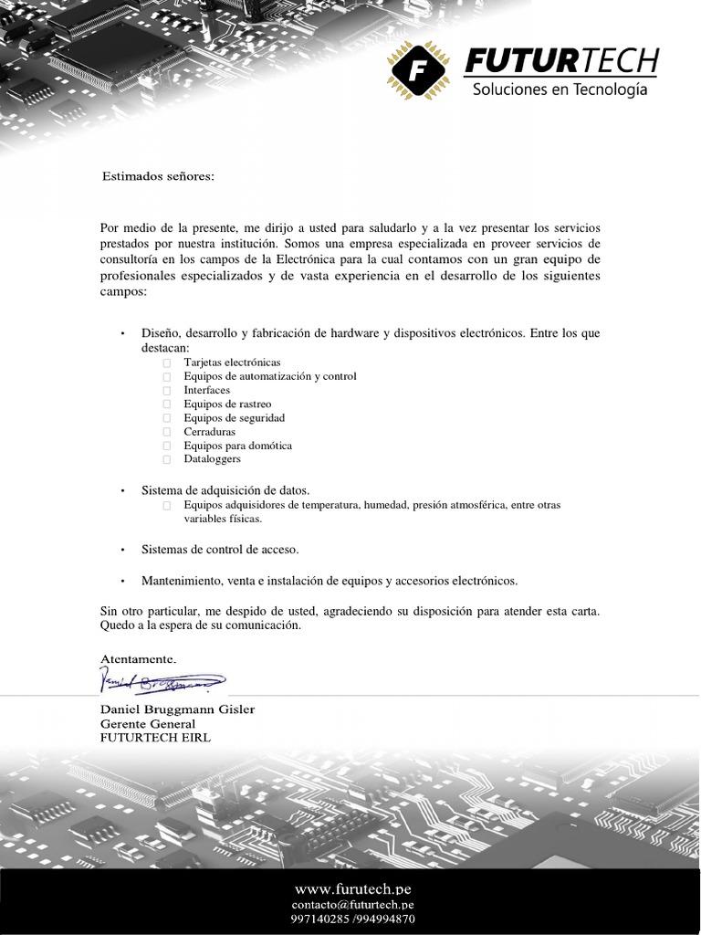 Futurtech Carta de Presentación