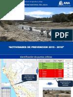 Autoridad Nacional Del Agua Acciones de Prevención