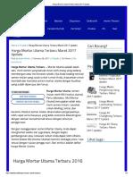 Semen - Harga Mortar Utama Terbaru Maret 2017 Update.pdf