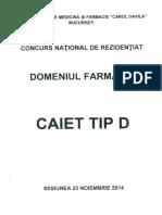 Caiet Tip d 2014