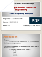Flood frequency analyses