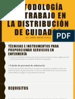 Metodología Del Trabajo en La Distribución de Cuidados