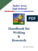 SAHS Writing Handbook