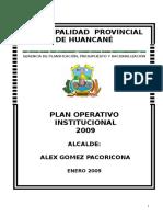 Plan 11667 Plan Operativo Institucional 2009