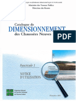 Catalogue de Dimensionnement Des Chaussees Neuves Fascicule1