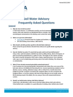 Boil Water Advisory FAQ