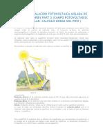 Cálculo Sistema Fotovoltaico Aislafo de La Red de Distribución