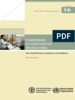 Fao Food Additive Specifications Compendium