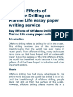 Custom Effects of Offshore Drilling on Marine Life Essay Paper Writing Service