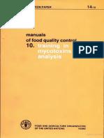 Fao Food Mycotoxin Analisis Trining Manual