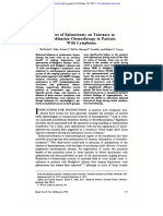 Effect of Splenectomy on Tolerance to Combination Chemotherapy in Patients With Lymphoma