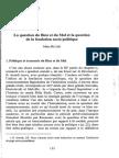 Marc Richir, La Question Du Bien Et Du Mal Et La Question de La Fondation Socio Politique