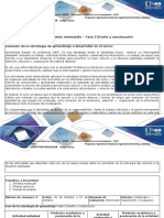 Guía de Actividades y Rúbrica de Evaluación Fase 2 Diseño y Construcción