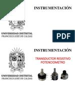 -3- Transductor Resistivo Potenciometro - Fotoresistencia
