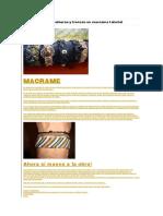Aprende a Hacer Pulseras y Trenzas en Macrame Tutorial