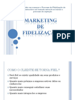 Marketing e Fidelizacao