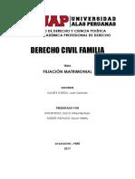 Monografía Derecho de Familia