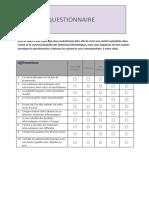 Questionnaire Sarl