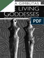 The Living Goddesses Marija Gimbutas