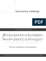 how to harmonise a melody