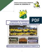 05. Programa de Enseñanza Anual Escuela de Futbol Club Deportivo Especializado Formativo Ciudad de Zamora Fc