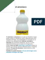 Usos Del Amoniaco