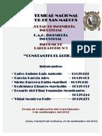 Constantes Elasticas - Informe N°3