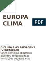 O CLIMA Europa