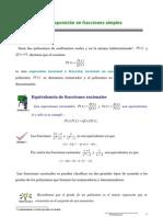 Descomposición en Fracciones Simples, factorización
