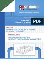 05 Hacer Caja de Registro_instalar Tuberia Colectora Interna