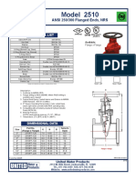 UL FM NRS Gate Valve, AWWA C515 - ANSI 250-300 Flanged Ends - Water Works - Fire Protection - Model 2510