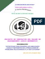 Genoveva Proyecto de Taller de Razonamiento Matematico 2014