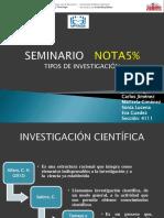 Diapositiva Tipos de Investigación