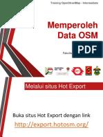 Memperoleh Data OSM