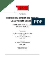 Memoria Descriptiva EDIF Recinto Juan Vicente Moscoso (Cerema)