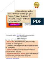 INOCUIDAD ALIMENTARIA - HACCP