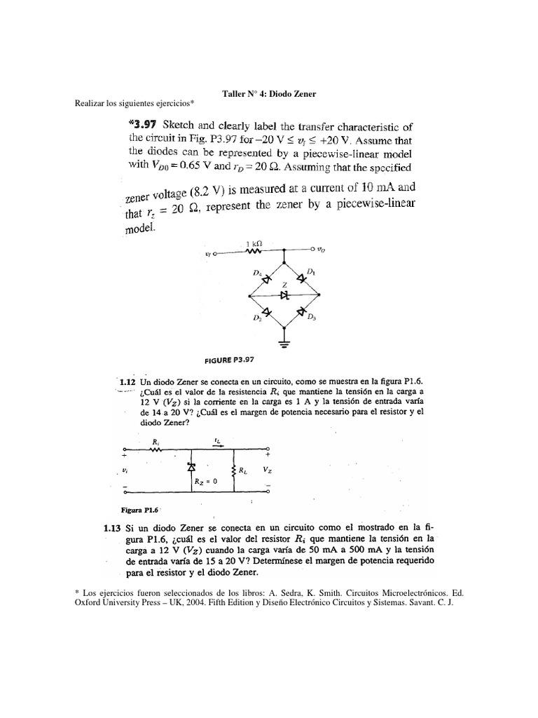 Circuito Zener : Taller diodo zener