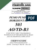 PERISSINOTO PUMP _88A-06_ 503 AOTD-B3 _Rev.1_