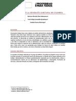 Estudio Sobre La Geografia Sanitaria de Colombia
