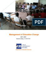 Syllabus for Management of Education Change