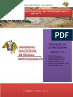 PROYECTO DE CIERRE DE MINA - INFORME FINAL-GRUPO N°6