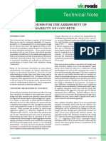 Technical Note TN 089 Test Methods for the Assessment of the Durability of Concrete