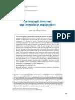 Institutional Investors Ownership Engagement