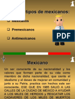 MEXICANOS – PREMEXICANOS – ANTIMEXICANOS